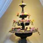 Greenscape Design - 3 tired fountain florals event decor garden party