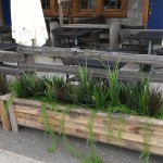Greenscape Design - Burgoo Planters Outdoor Grass Patio
