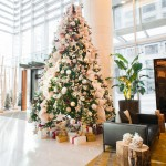 Greenscape Design - Shangri La hotel lobby decor gold gilded winter wonderland