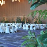 Greenscape Design - Evergreen perimeter treatment cedar logs event decor