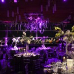 Greenscape Design - event decor VSO lovers ball ceiling treatment centre pieces