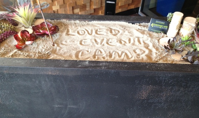 Greenscape Design Sand Message Event Camp 1