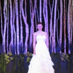 Greenscape Design Bride with Natural Birch Pole Backdrop