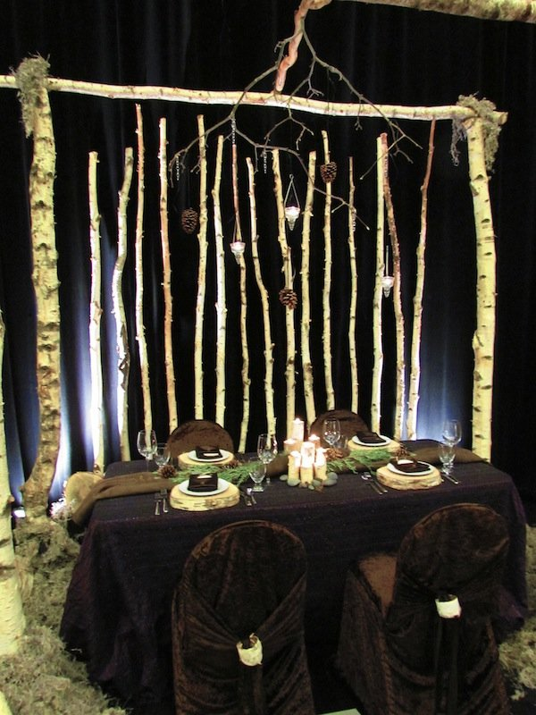 Greenscape Design Natural Birch Arch and Backdrop