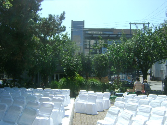 Greenscape Design Jewel Ballroom Wedding Courtyard AFTER