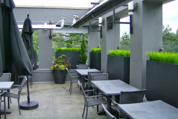 Restaurant Patio Ideas Moxies Restaurant Patio Planters Greenscape Design  Decor