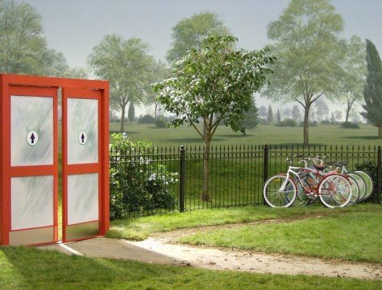 Greenscape-Design-TV-Commericlal-Set-Target-Commercial-Sliding-Doors-and-Tree-and-Bike-552x420