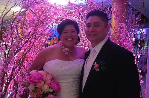 Greenscape Design Cherry blossom Archway Norma and James Wedding Vancouver