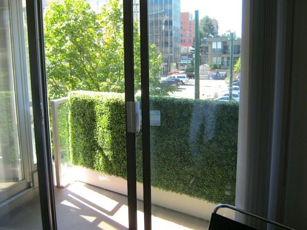 Balcony privacy screen boxwood greenscape for Balcony privacy screen
