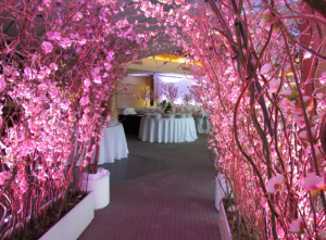 Greenscape Design Pink Cherry Blossom Archway