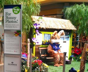 Greenscape Design Shopping Centre Easter Bunny Set Design
