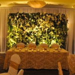 Greenscape Design Floral and Boxwood Wall Wedding Backdrop Vancouver