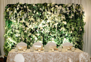 Greenscape Design Floral Green Wall Vertical Garden Wedding Decor Vancouver