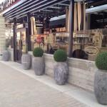 Greenscape Design Patio Landscaping Ideas Aritifical Boxwood Balls 18 Karat Planters