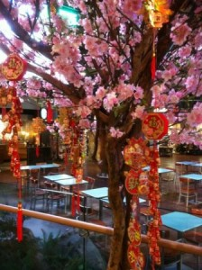 Greenscape Design Chinese New Year Cherry Blossom Tree Decor Rentals