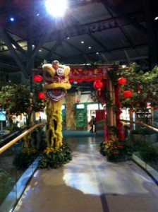 Greenscape Design Chinese New Year Decor YVR Internationational Departures