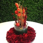 Greenscape Design Red and Gold Centrepieces Chinese New Year Decor Rentals