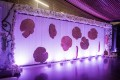 Greenscape Design Tree Cookie and Hydrangea Back Drop Van Dusen Great Hall