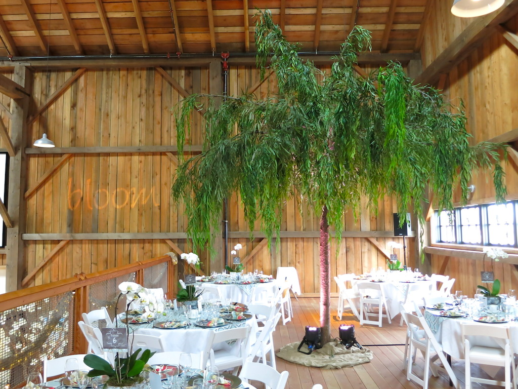 Greenscape Design Canopy Faux Willow Tree Decor Rentals