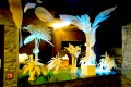 Greenscape Design Encore Nightclub White Canvas Palm Tree Decor