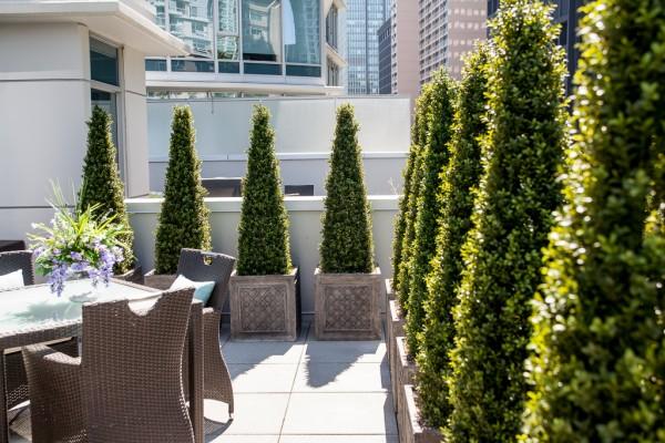 Artificial Boxwood Topiary Patio Decor Greenscape