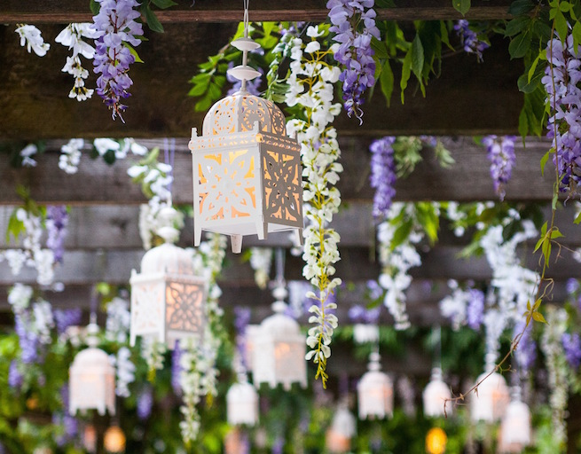 Greenscape Design White Wisteria Purple Wisteria White Lantern Enchanted Garden Decor copy