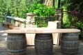 Greenscape Design Wine Barrel Event Decor Rentals