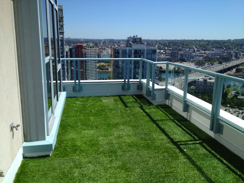 Greenscape Design Artificial Turf Installation Vancouver Condo Balcony
