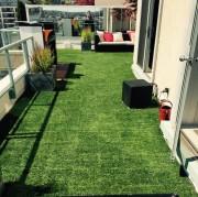 Greenscape Design Custom Artficial Turf Exterior Residential Patio Vancouver