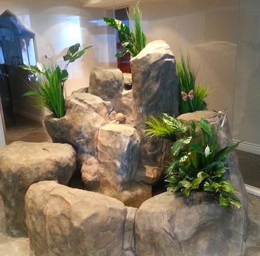 Greenscape Design Residential Rock Water Feature Greenery copy