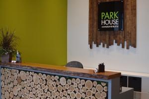 Greenscape Design Wooden Desk and Sign AFTER