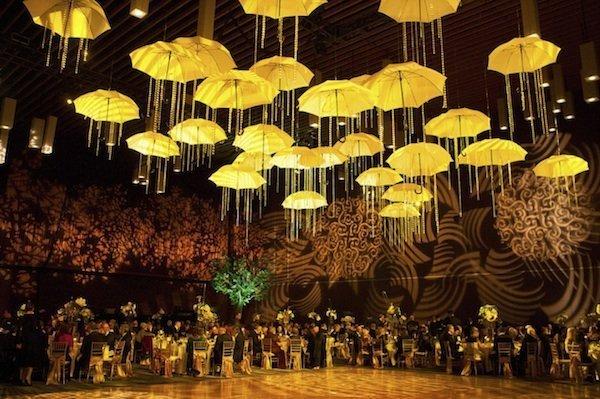 Greenscape Design - Event Ceiling Treatment Umbrella Decor Rental