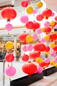 Greenscape Design Lougheed Mall Chinese New Year Lantern Decor Design