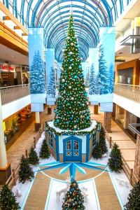 Greenscape Design Lougheed Mall Santa Set Display Vancouver