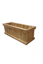 Cedar Planter Long Rectangular
