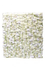 White Floral Wall- 8' x 7'